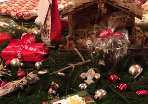 Weihnachtspaket-Ausschnitt